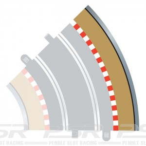 Scalextric Radius 2 Curve Outer Borders 45 Degree x4 C8228