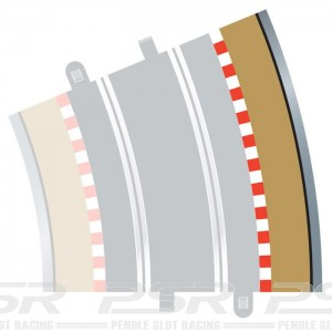 Scalextric Radius 4 Curve Outer Borders 22.5 Degree x 4 C8238