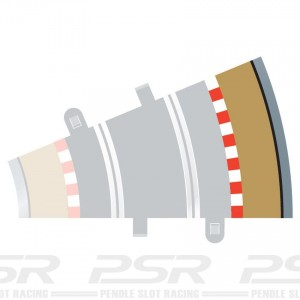 Scalextric Radius 2 Curve Outer Borders 22.5 Degree x4 C8239