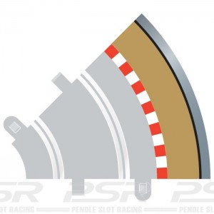 Scalextric Radius 1 Inner Curve Outer Border/Barriers x4 C8240