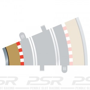 Scalextric Radius 2 Curve Inner Borders 22.5 Degree x4 C8280