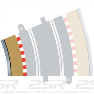 Scalextric Radius 3 Curve Inner Borders 22.5 Degree x4 C8281