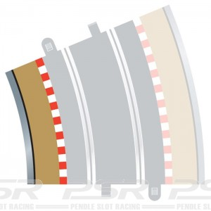 Scalextric Radius 4 Curve Inner Borders 22.5 Degree x4 C8282