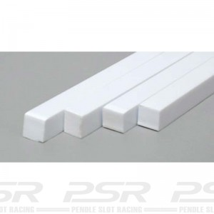 "Evergreen Plastic Square Solid Strip 0.250"" x 250"""