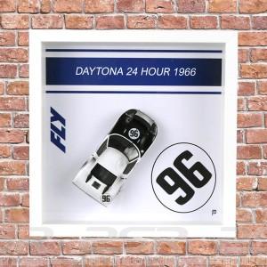 Fly Ford GT40 Daytona 1966 No.96 Framed