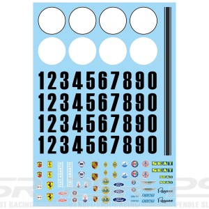 Mitoos Classis Race Plate & Numbers Decals