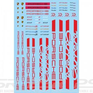 Mitoos Porsche Red Decals