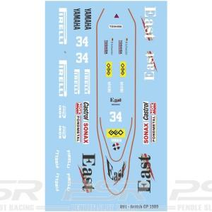 Mitoos Zakspeed 891 British GP No.34 Decals