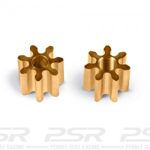 MR Slotcar Pinion Brass 7t 4.5mm Inline 1.5mm MR4007