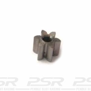 MR Slotcar Pinion Steel 6t 4.5mm Inline 1.5mm