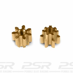 MR Slotcar Pinion Brass 7t 4.5mm Sidewinder 1.5mm