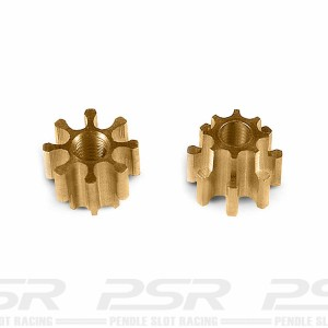 MR Slotcar Pinion Brass 8t 4.5mm Sidewinder 1.5mm