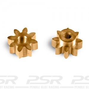 MR Slotcar Pinion Brass 8t 5.5mm Sidewinder 1.5mm MR4108