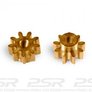 MR Slotcar Pinion Brass 9t 5.5mm Sidewinder 1.5mm MR4109