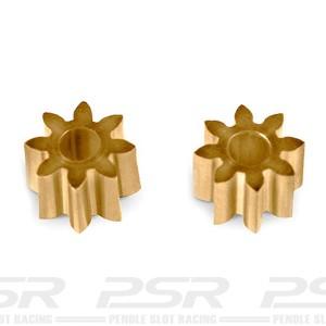 MR Slotcar Pinion Brass 8t 5.5mm Inline 2.0mm