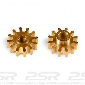 MR Slotcar Pinion Brass 12t 6.5mm Sidewinder 2.0mm MR4312