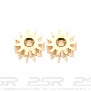 MR Slotcar Pinion Brass 11t 6.5mm Anglewinder 2mm