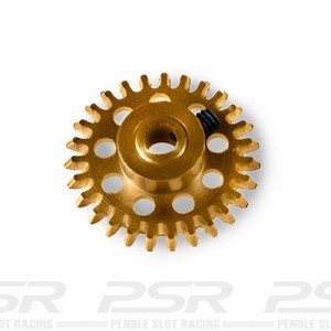 MR Slotcar Anglewinder Gear 27t 14.5mm Gold MR6527