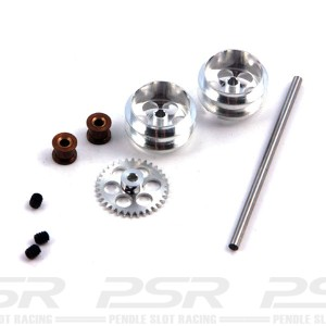 NSR Rear Axle Kit SW with Large Wheels for Proslot NSR-4014