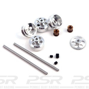 NSR Front & Rear SW Axle Kit with Standard Wheels for Proslot NSR-4204