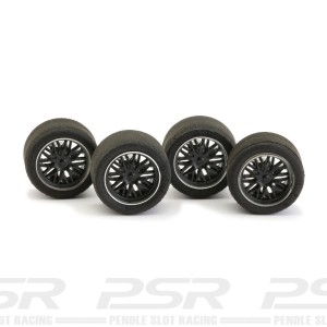 NSR Wheel Inserts BBS Black for Ø16 Wheels