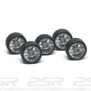 NSR Wheel Inserts 12 Spokes Silver for Ø17 Wheels