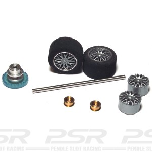 NSR Rear Axle Kit Inline Trued Sponge Tyres