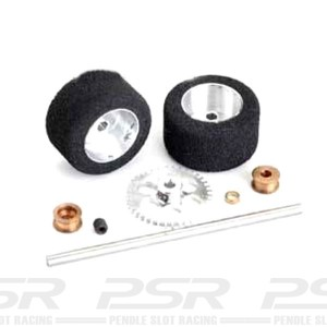 NSR Rear Axle Kit Sidewinder Trued Sponge Tyres NSR-9122
