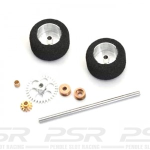 NSR Rear Axle Kit Anglewinder Trued Sponge Tyres for Ninco NSR-9123
