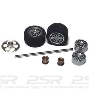 NSR Rear Axle Kit Trued Sponge Tyres for Proslot