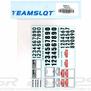 Team Slot Classic Rally Plates Decals