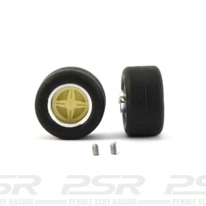 PCS Scalextric Replica F1/Saloon Small Wheels & Tyres Set x2