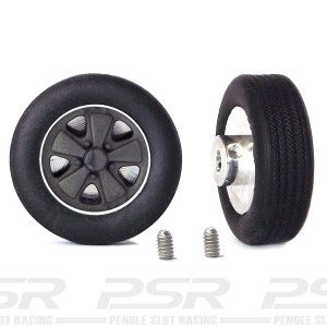 PCS Classic 14'' Alloy Wheels 14x5.7 Fuchs & Tyres x2