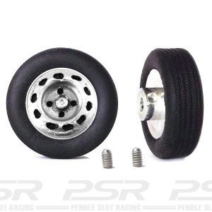 PCS Classic 14'' Alloy Wheels 14x5.7 Steel B & Tyres x2