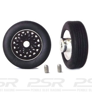 "PCS Classic 14"" Alloy Wheels & Tyres with Classic BBS Inserts x2"