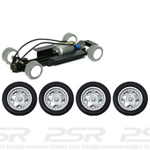 PCS 32 Complete Adjustable Chassis with 5 Spoke Silver Wheels PCS-32G