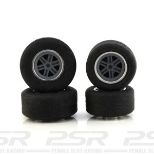 PCS Scalextric Wheel & Tyre with Insert Pack 02a