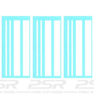 Penelope Pitlane White Stripes Decals