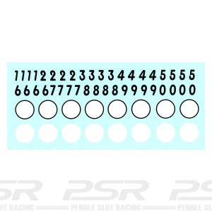 Penelope Pitlane Roundels & Numbers Decals