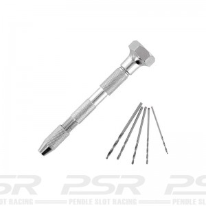 Swivel-Top Pin Vice & 5 Drill Bits