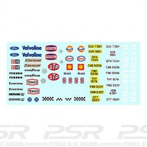PSR Classic Race Sponsors & Numbers Decals PSR-D23