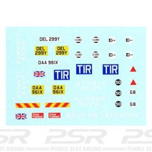 PSR Leyland Roadtrain Truck Decals PSR-D26
