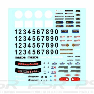 PSR Mazda MX5 Racing Decal Sheet