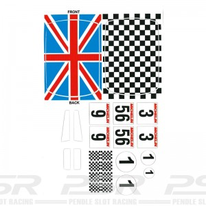 PSR Vinyl Stickers Mini Chequred & Union Jack Roof