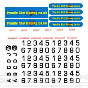 PSR Pendle Numbers & Boards Vinyl Stickers