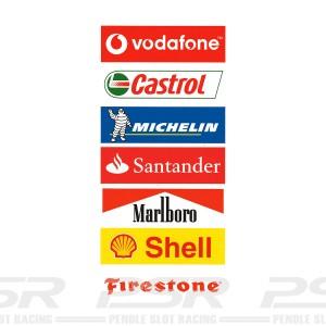 PSR Vinyl Stickers Track Logos A
