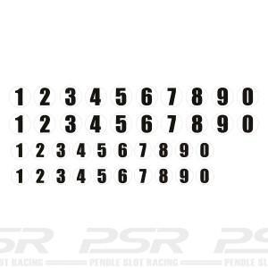 PSR Vinyl Sticker Number Roundels x40