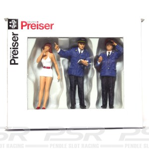 Preiser Controller Inquiry Clerk & Girl PZ-63057