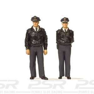 Preiser Standing Police Officers Blue