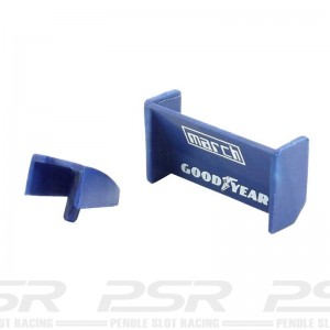 RUSC C129 Rear Aerofoil & Air Box Blue March